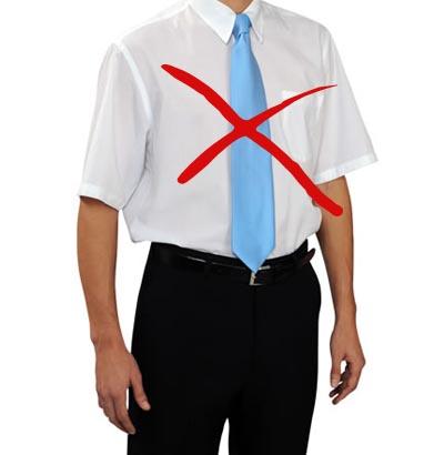 não-se-deve-usar-camisa-manga-curta-com-gravata
