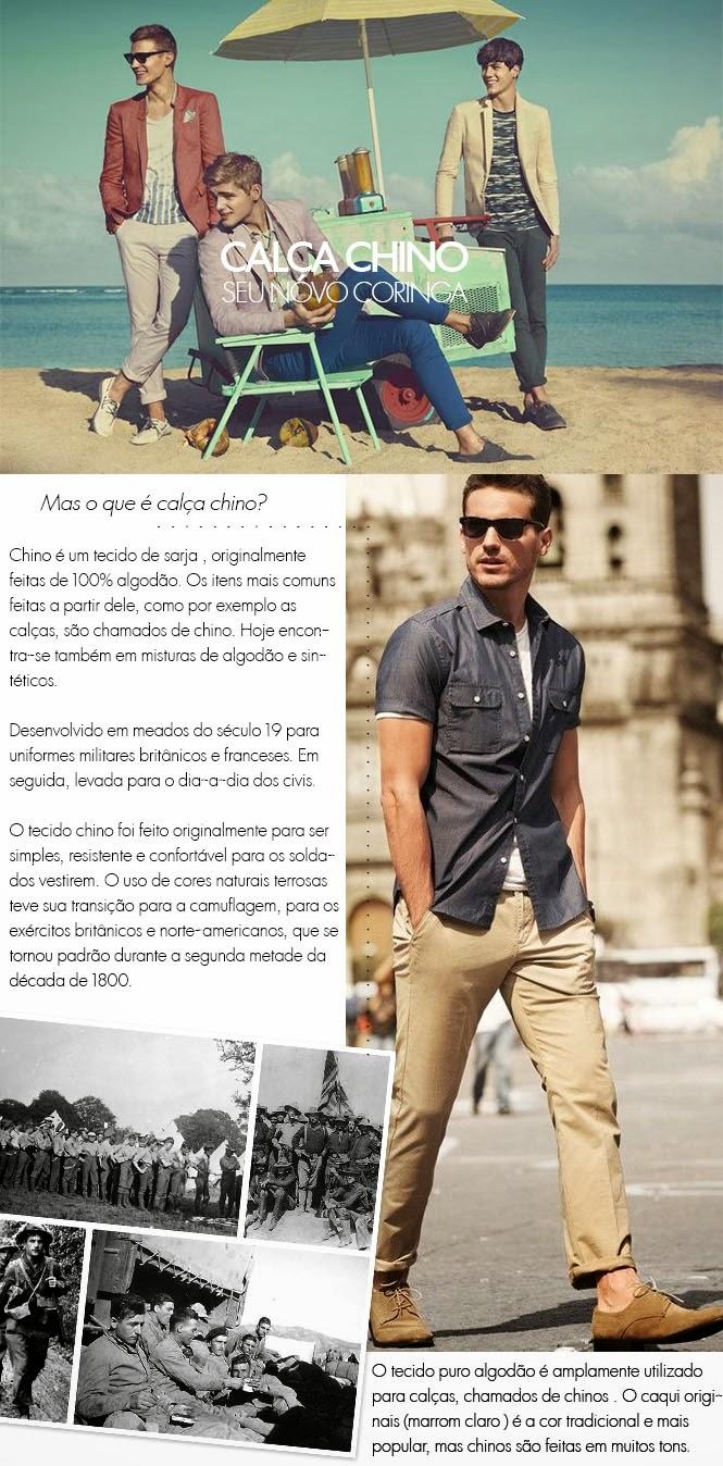 27a5ff2af ... calça social por exemplo, devido ao tecido e ao corte, mas na verdade a  calça chino pode passear por todo seu guarda-roupas e até dar uma folga  para o ...