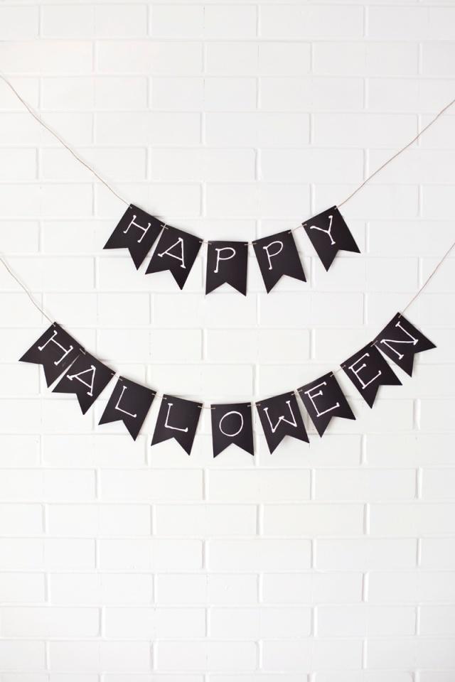 Dia das Bruxas Papel garland- clicar para obter mais idéias festão!